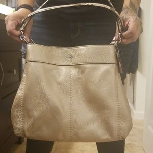 Coach Pebble Leather Lexy Shoulder Bag Handbag